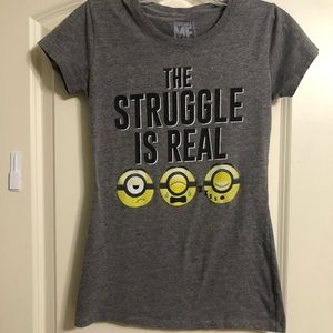 The Struggle is Real Despicable Me  tee Si…